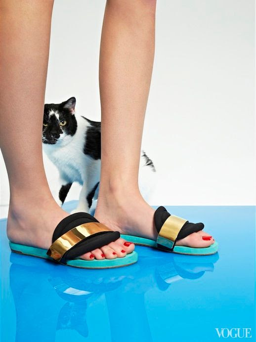 Le Fashion Blog Cats Kittens And Flats Chloe Metal-Detailed Slide Sandals Via Vogue photo Le-Fashion-Blog-Cats-And-Flats-Chloe-Metal-Detailed-Slide-Sandals-Via-Vogue.jpg