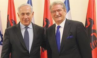 Netanyahu, Albanian PM Sali Berisha: Illustration