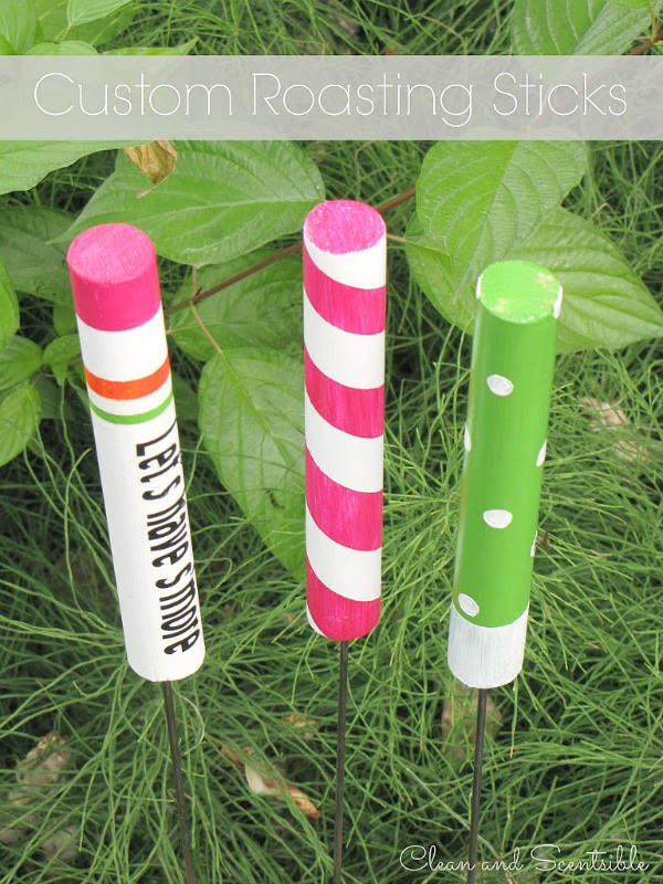Create custom roasting sticks - fun camping activity for kids!