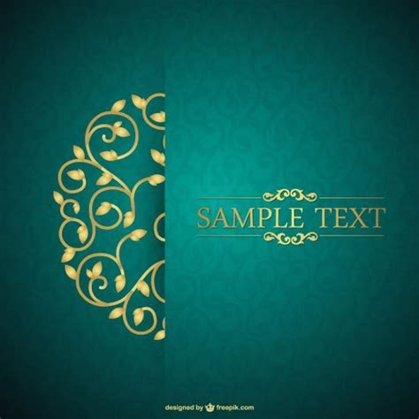 Retro card floral template free for download Vector   Free