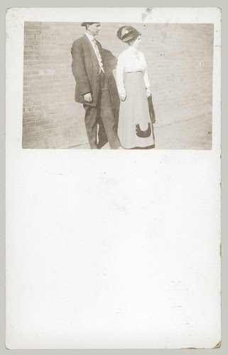 man and woman with hat.