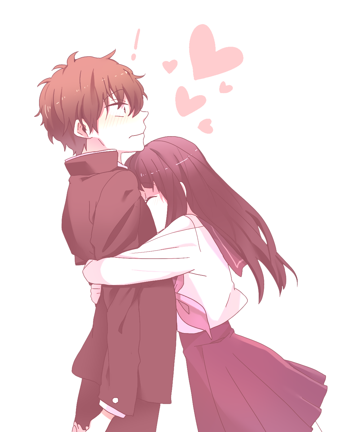 Anime Love Couple Png Transparent Png Mart