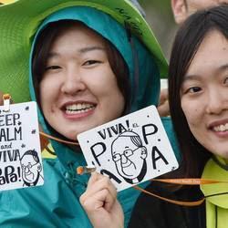 Giovani dell'Asia alla Messa del Papa