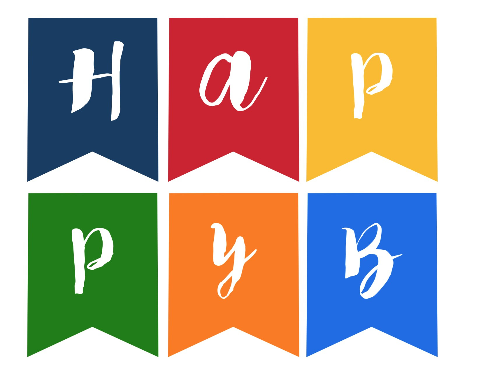 Happy Birthday Banner Free Printable - Paper Trail Design