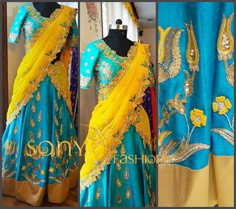 Best 20  Langa Voni ideas on Pinterest   Half saree, Saree
