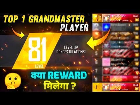 Top 1 GrandMaster Player Tonde Gamer Level Up to 81 - Garena Free Fire