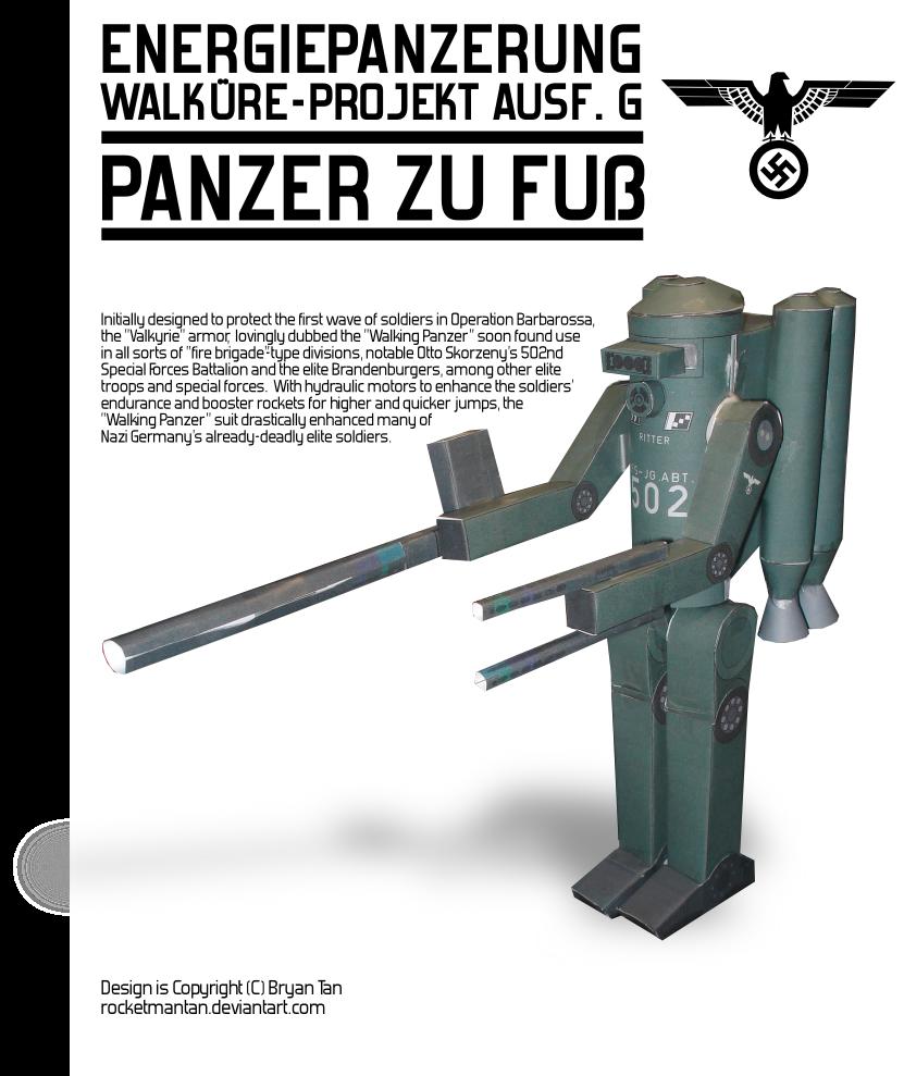 Nazi Mech Suit Papercraft