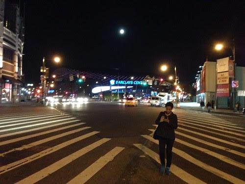 Full moon over Brooklyn