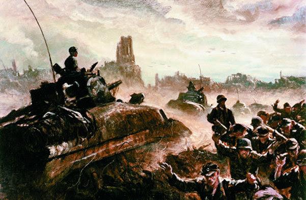 Sherman Tanks Invade