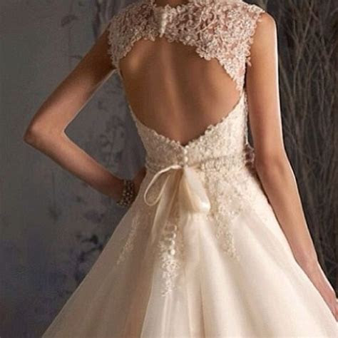 Wedding dress. Lace open back.   Wedding   Pinterest