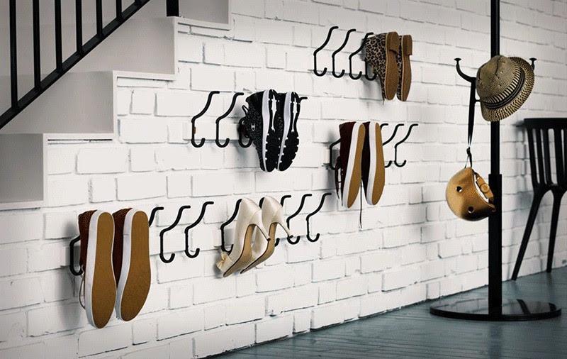 Hệ giá móc treo giày
