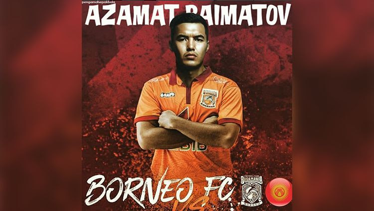 Kapten Timnas Kyrgyzstan, Azamat Baimatov, resmi ke Borneo FC. Copyright: © Instagram Pengamat Sepakbola