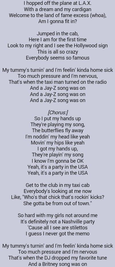 Made In The Usa Lyrics Miley Cyrus
