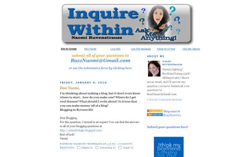 Inquire Within - Naomi Ruvenstrauss