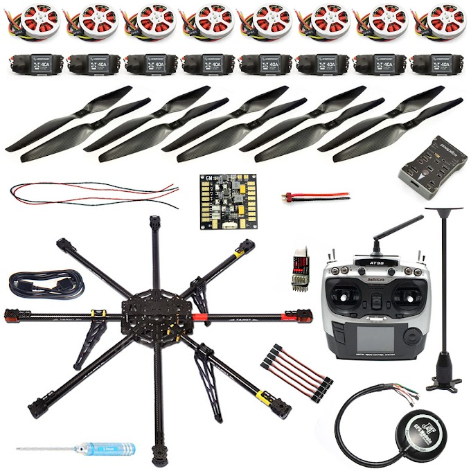 F04765-A 2.4G 9CH 1000mm Carbon Octocopter PX4 PIX M8N GPS 8-Axle RC Drone Unassembled DIY ARF Kit No Battery FPV Upgrade