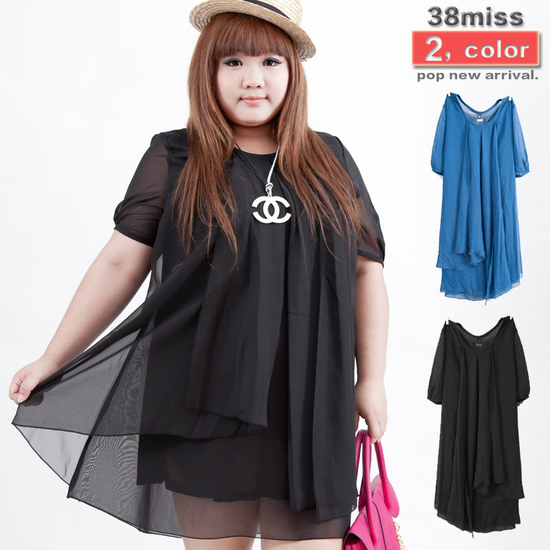 029fbdbd821 Plus Size Dress Custom Black Blue Summer Clothing