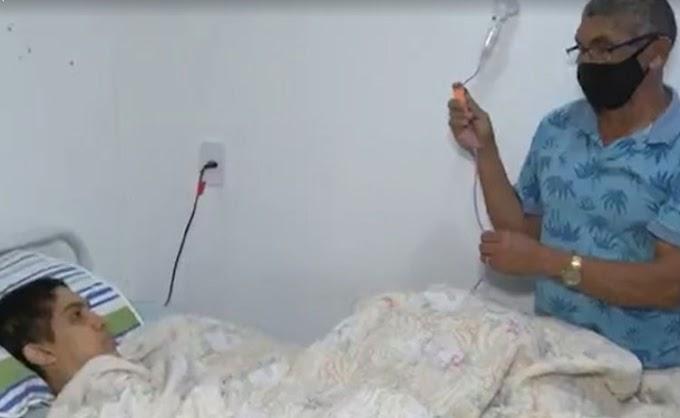 Pai pede ajuda para filho que precisa de cuidados médicos após ser atropelado em Conquista