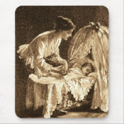 Vintage Mother and Baby mousepad
