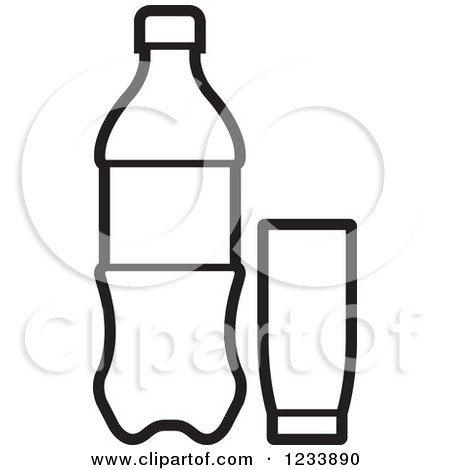 Black And White Water Bottle Clipart Clipart Suggest