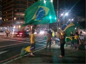 Protesto a favor do impeachment, em Vitória (Foto: Rodrigo Maia/ TV Gazeta)