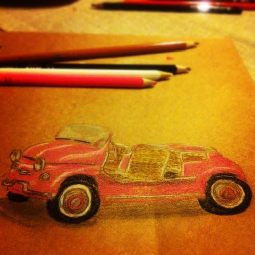 Herşeyi çizmek isteme geldi :) Minik bi cep defteri taşımak istiyorum yanımda, çiziveriyim her an diye o derecede :) Minik minik masal kahramanları, eşyalar, sihirli bıdıklar, ışıklar, sesler çizip kendimi şoka sokmak istiyorum❤ Dün aldım koyu renk defter, açık renk kuru boyalar..Çaydanlık, cupcake, pembe arabayı falan çiziyorum :) Beyin nelerle dolu :P