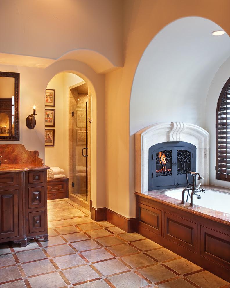 Bathroom Fireplace Interior Design Ideas