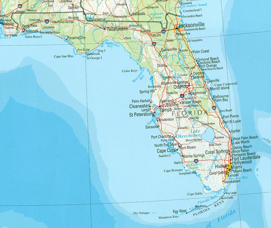 Ten Geographic Facts About The U S State Of Florida