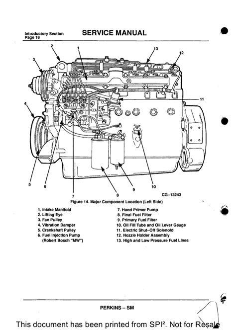 PERKINS 1300 SERIES WC DIESEL ENGINE Service Repair Manual