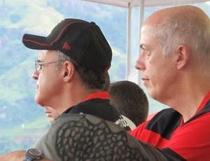 flamengo Presidente Eduardo Bandeira de Mello e vice de futebol Wallim Vasconcellos (Foto: Richard Souza)