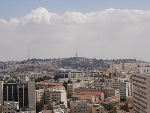 Jerusalem with clouds above