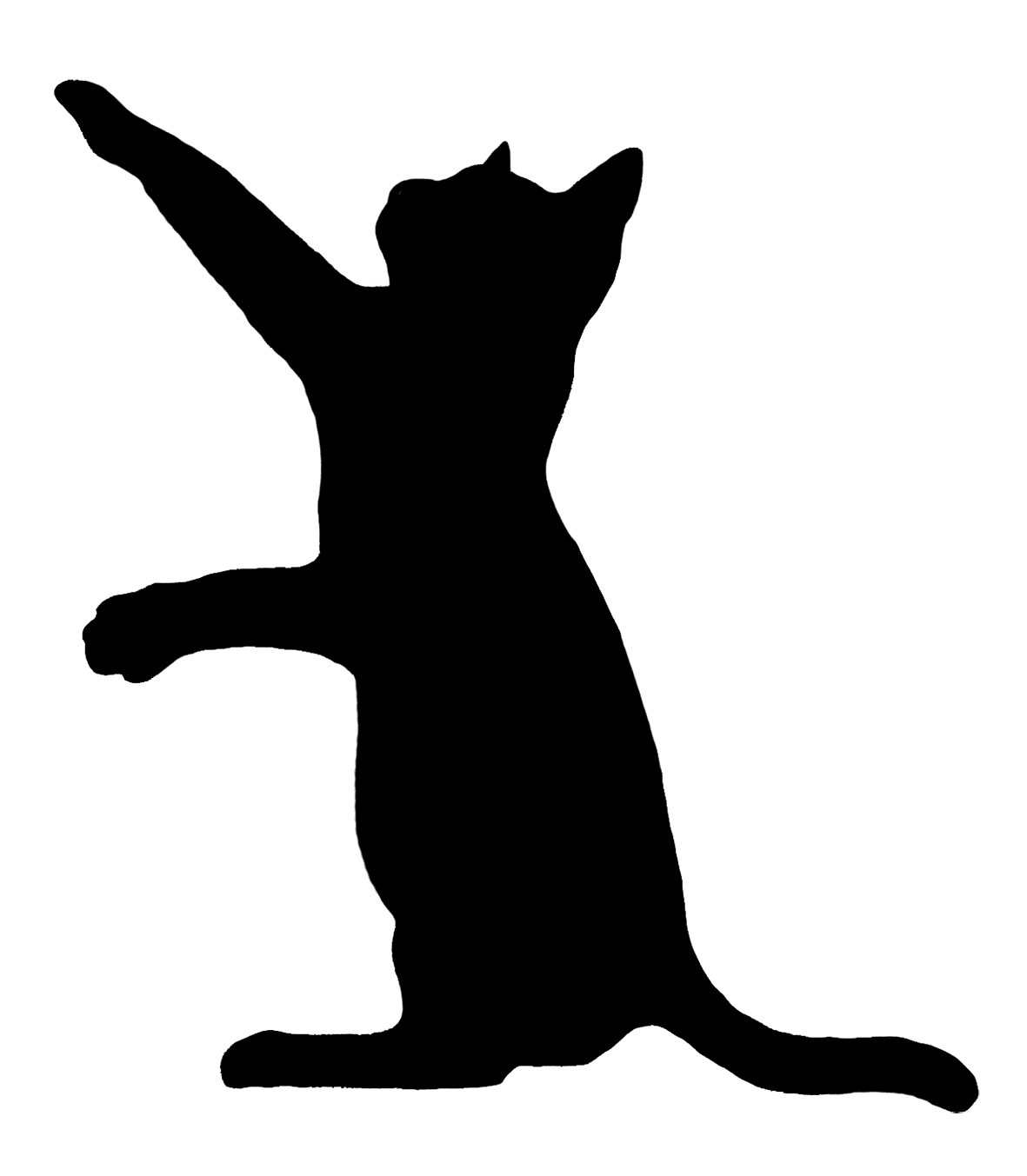 Download Cat play and toys Kitten Silhouette Clip art - black cat ...
