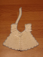 30's-40's crochet/knit bib made by my great grandmother