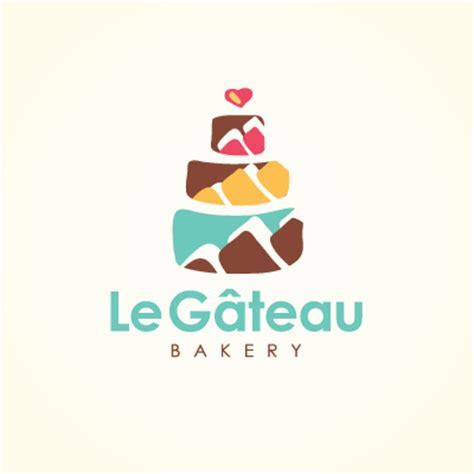 Le Gateau   the cake   bakery   Logo Design Gallery