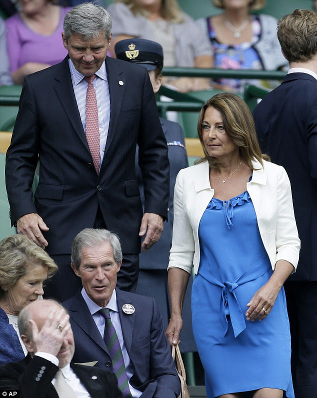 Grandparents-to-be to the heir to the throne: The couple take their seats in the royal box