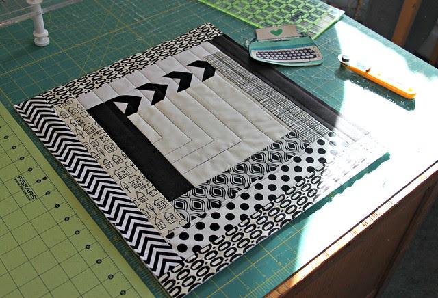 qayg black + white tote wip