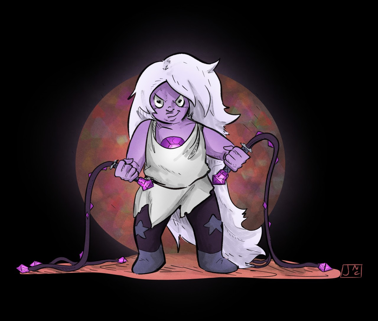 I love how every time amethyst reforms she gets more and more punk :-)