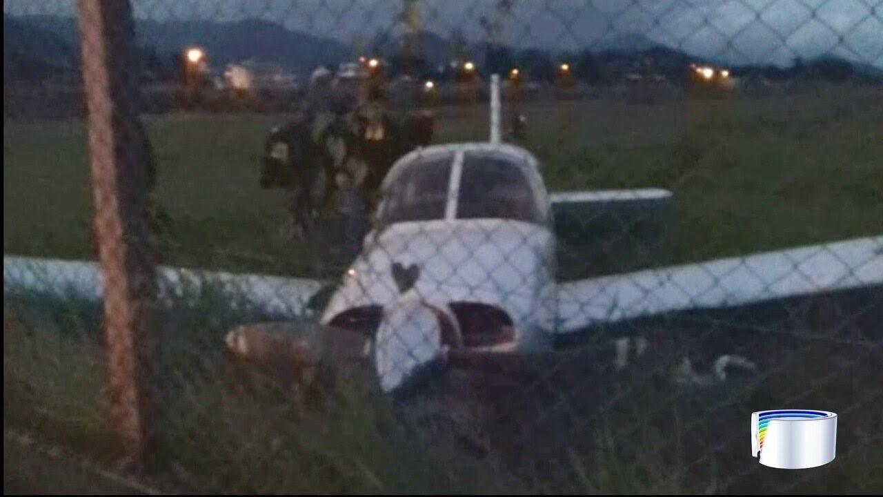 Avião fez pouso forçado em Ubatuba nesta terça-feira
