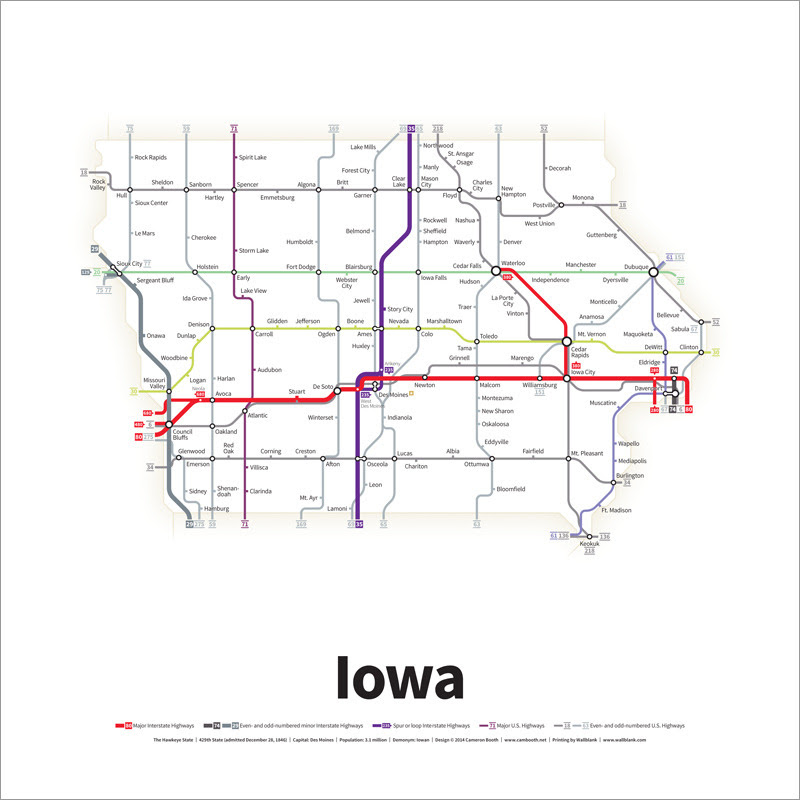 Image Result For Iowa Highways Map