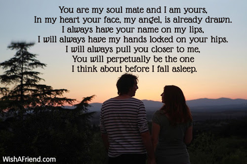 Soul Mates We Are Poem For Girlfriend