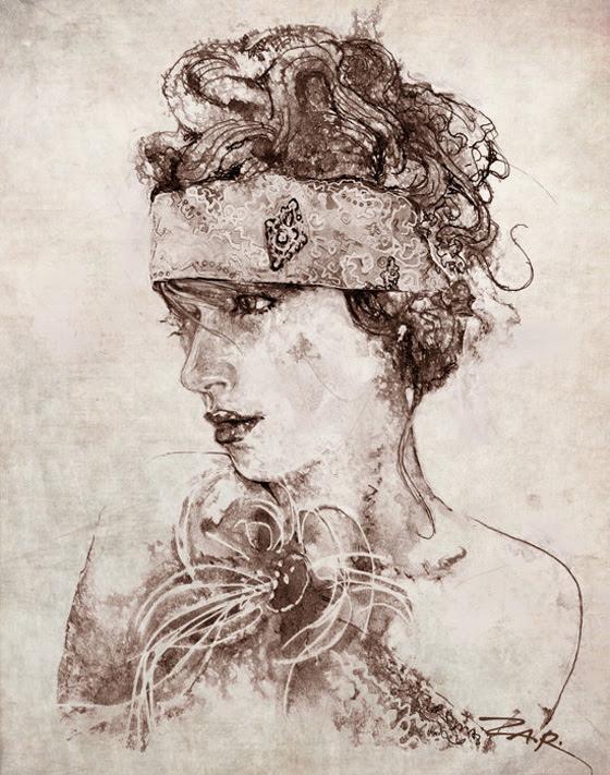 Zar Zahariev Art Deco Illustrations 4 Zar Zahariev Illustrations : Belle Dame au Chapeau