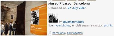 Foto de turistas culturales en Barcelona. Fuente Flickr. Google,lización, turismo cultural