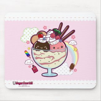 Kawaii Ice Cream mousepad