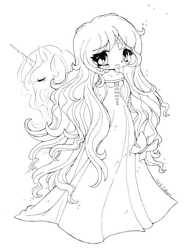 Anime Unicorn Girl Chibi