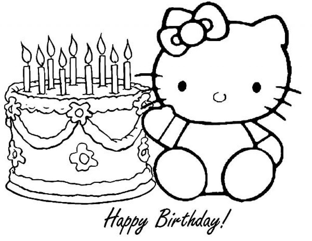 Hello Kitty Birthday Coloring Pages at GetColorings.com ...