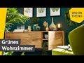 Gruenes Wohnzimmer Design
