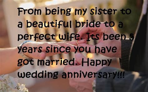 Happy Wedding Anniversary Wishes For a Sister