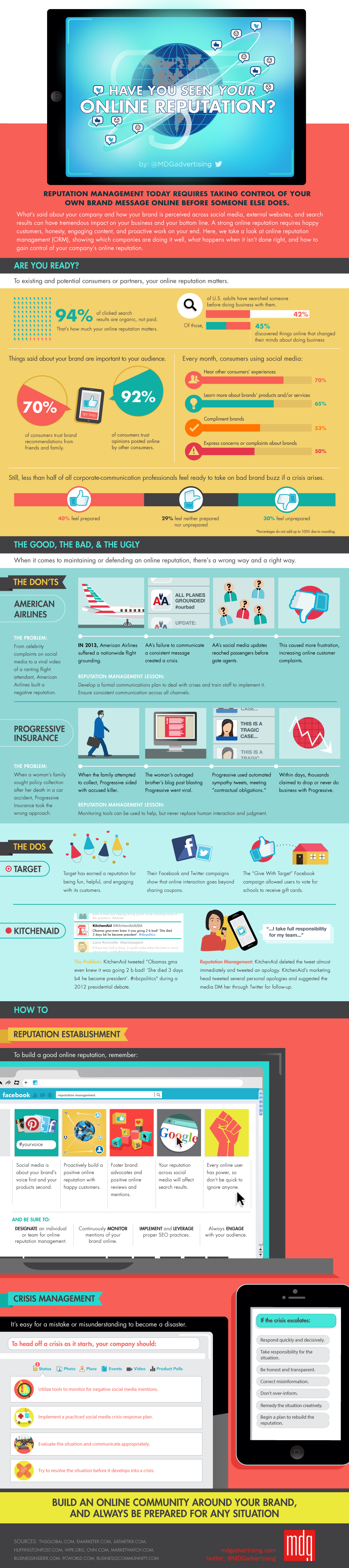 How To Build A Good Online Reputation [infographic]