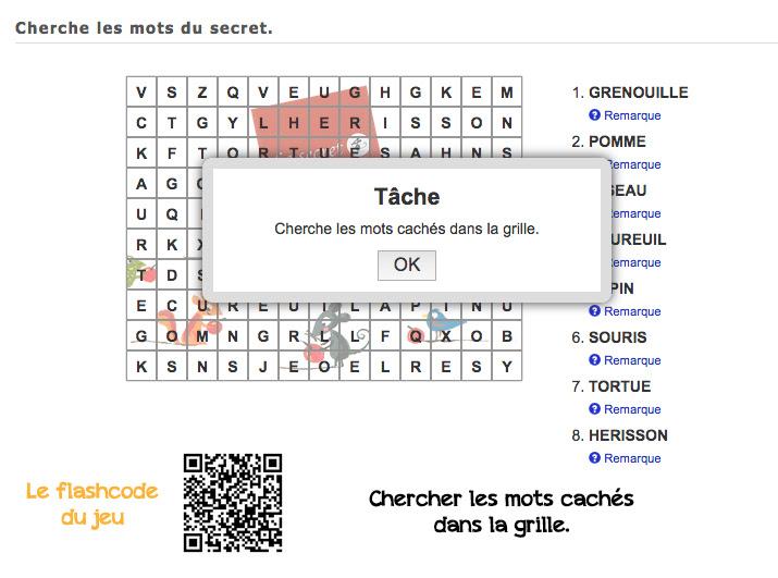 Appli learning apps à partir de l'album Le secret d'Eric Battut