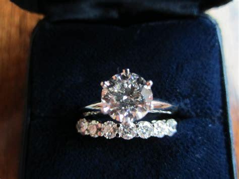 tiffany band engagement ring     brilliant diamond