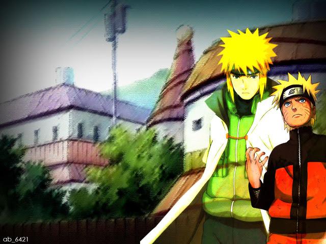 Naruto and Yondaime Hokage